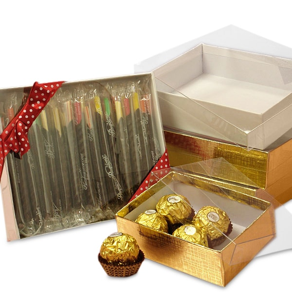 Clear lid candy boxes shop with paper mart now for Small cardboard jewelry boxes with lids
