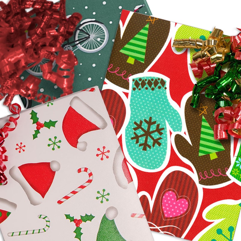 Christmas Objects Wrapping Paper