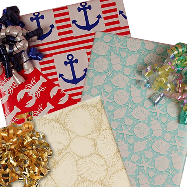 Nautical Patterns Wrapping Paper