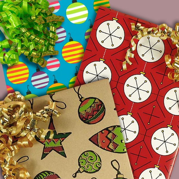Christmas Ornament Wrapping Paper