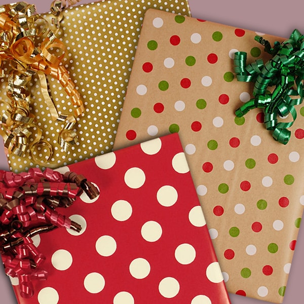 Polka Dot Christmas Wrapping Paper