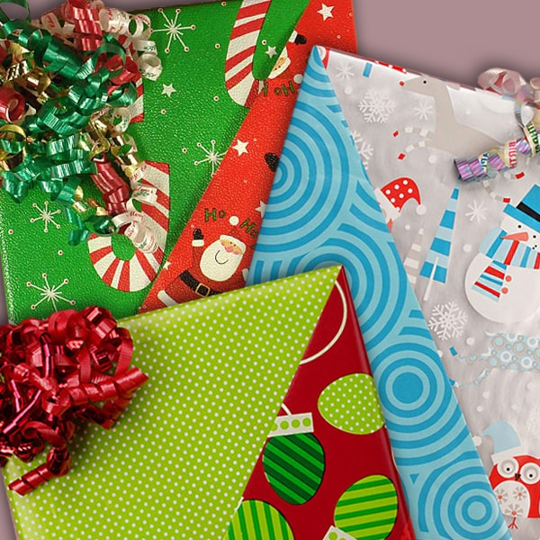 Reversible Christmas Wrapping Paper