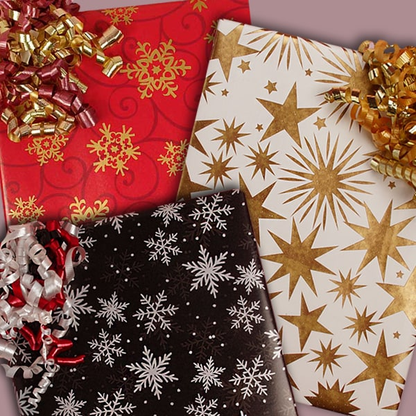 Star & Snowflake Wrapping Paper