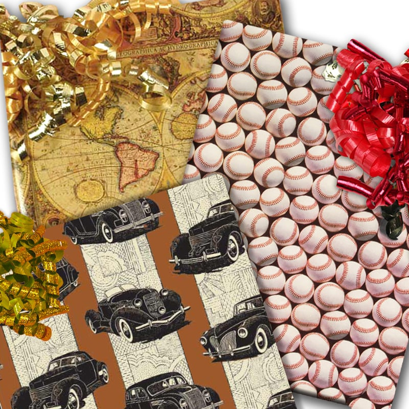 Masculine & Sports Wrapping Paper