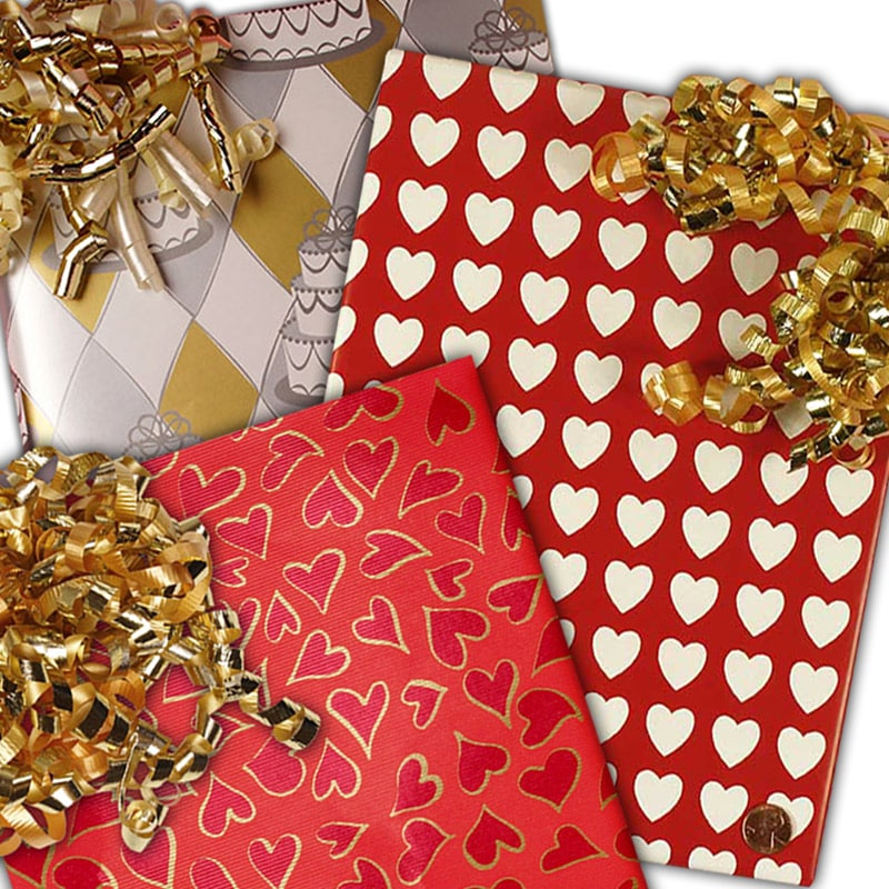 Hearts & Wedding Wrapping Paper