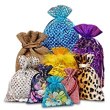 Twisted Handle Shopping Bags Fabric Pouches