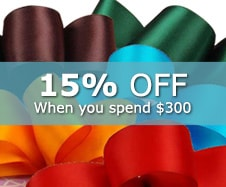 20% off Fabric Ribbons