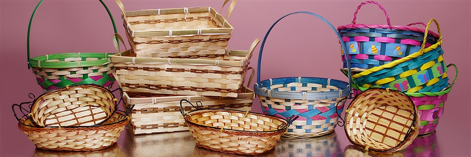 Bamboo Baskets With Handles