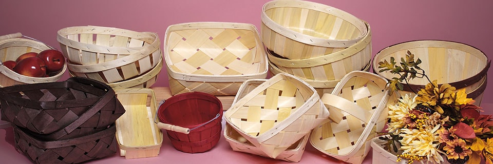 Wood Slat Farm Baskets