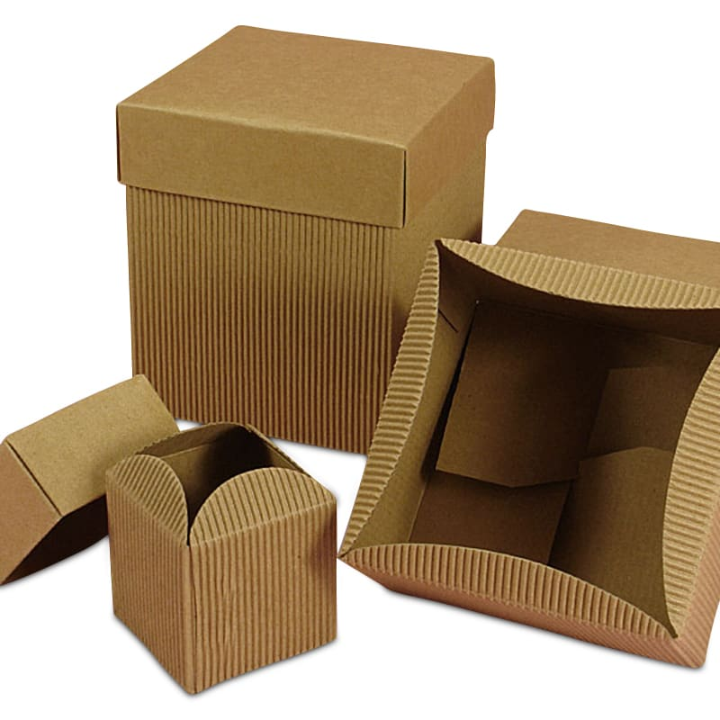 Natural Corrugated-Side-Out  Gift Boxes