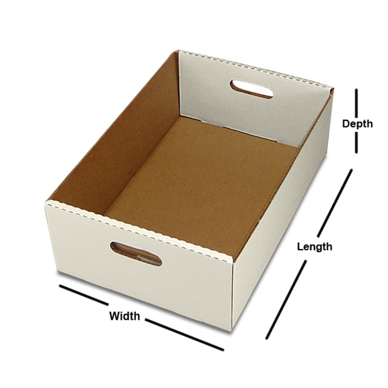 Rectangular Corrugated Tote Tray