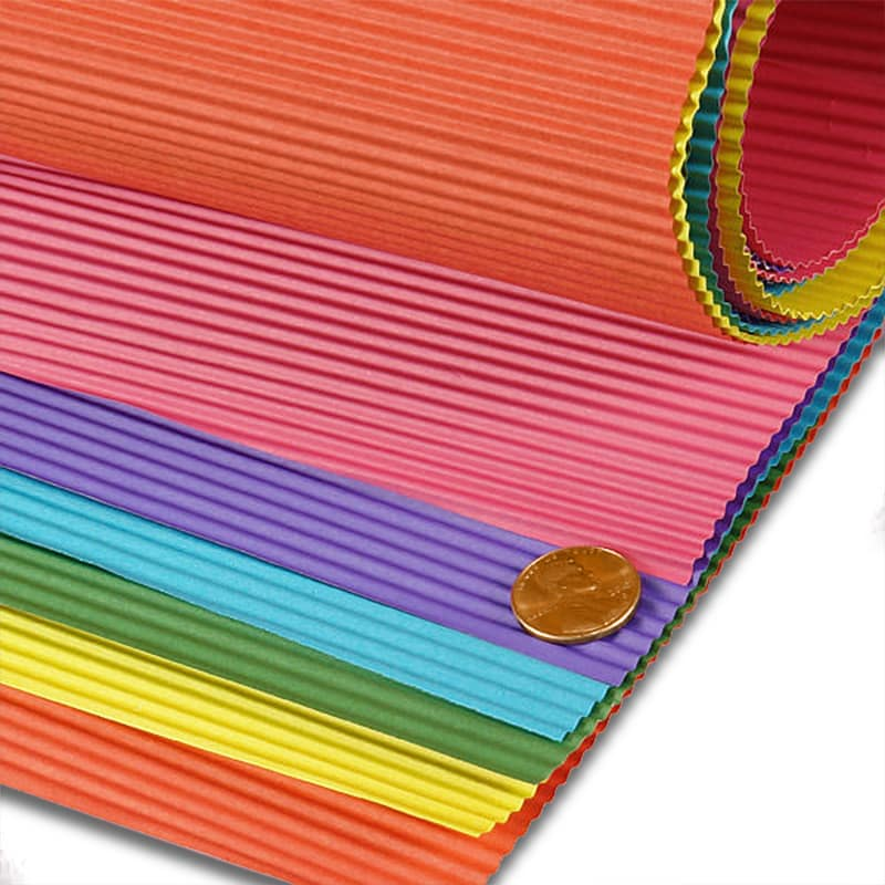 Colored Corrugated Paper Sheets