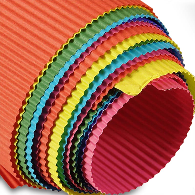 Colored Corrugated Paper Shop With Paper Mart