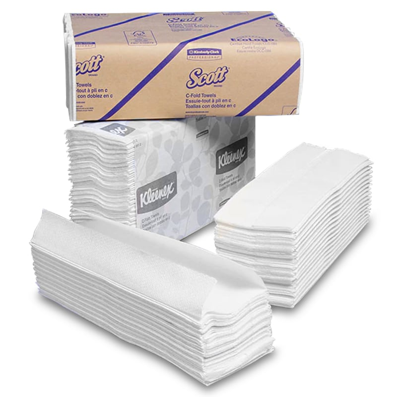 White C-Fold Towels <img Src=/Images/Item/Jpg_Janitorial/Cfold_Small.Gif Alt=c&#32fold&#32towels>