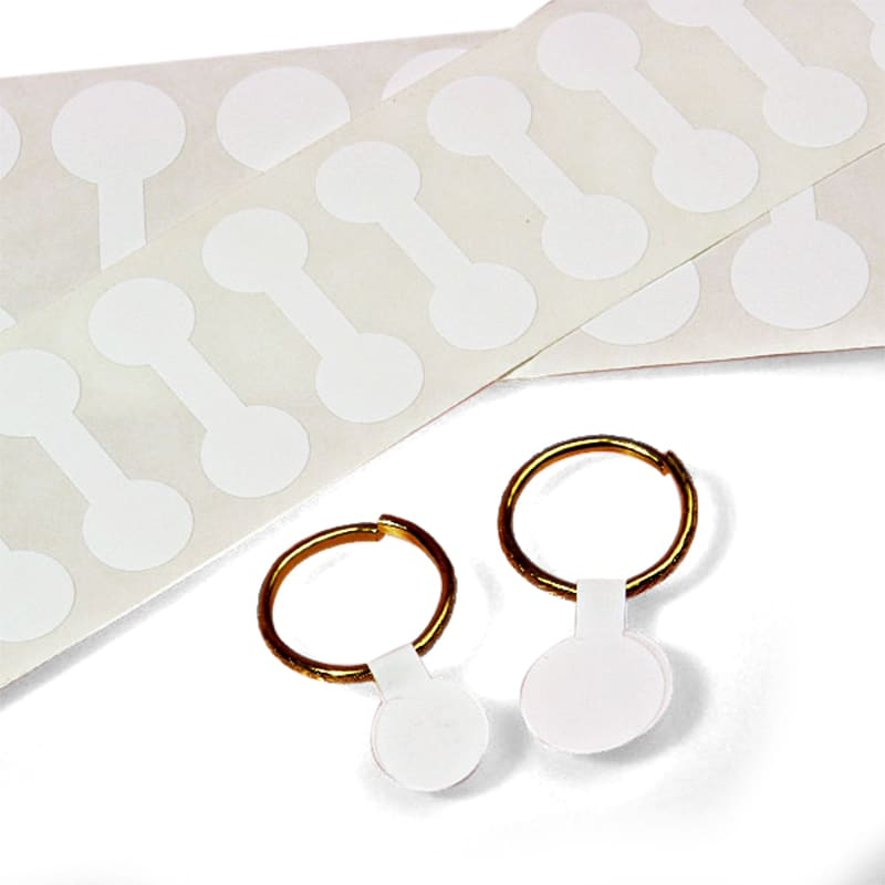 White Paper Round Dumbbell Jewelry Labels
