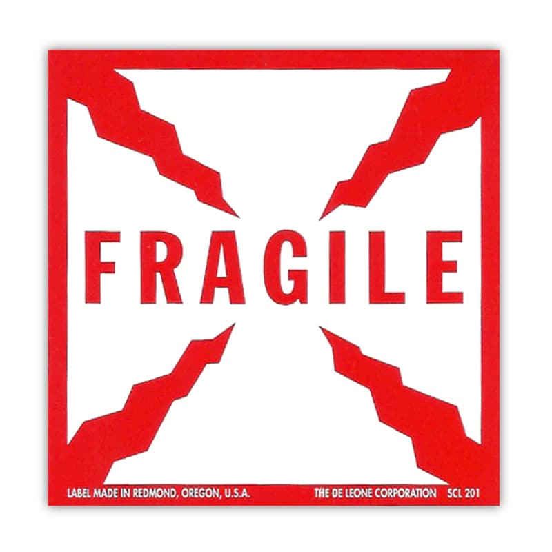 Fragile & Glass - Printed Labels