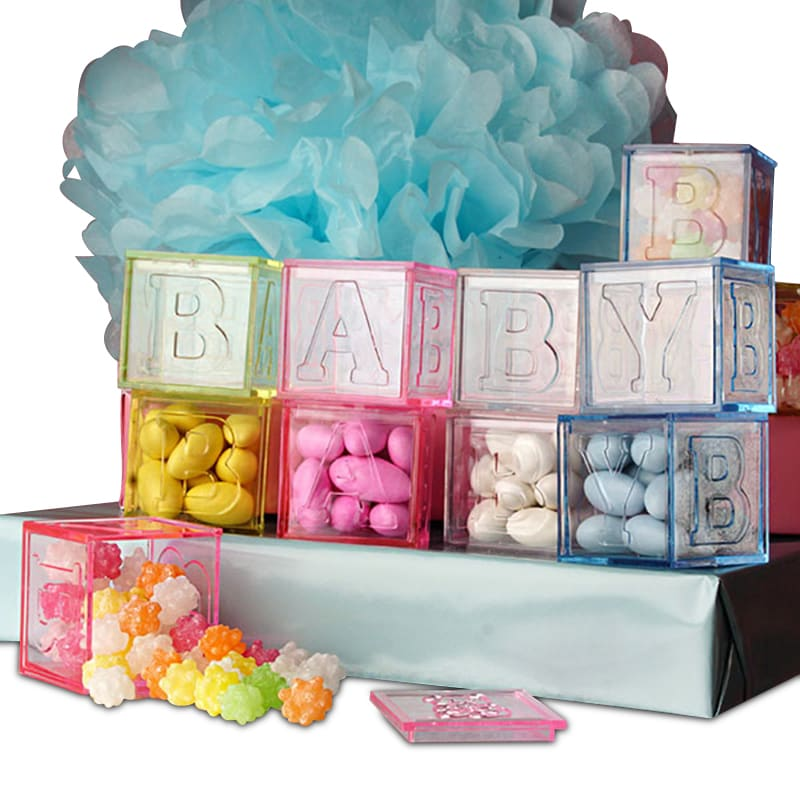 Baby Blocks Plastic Favor Boxes