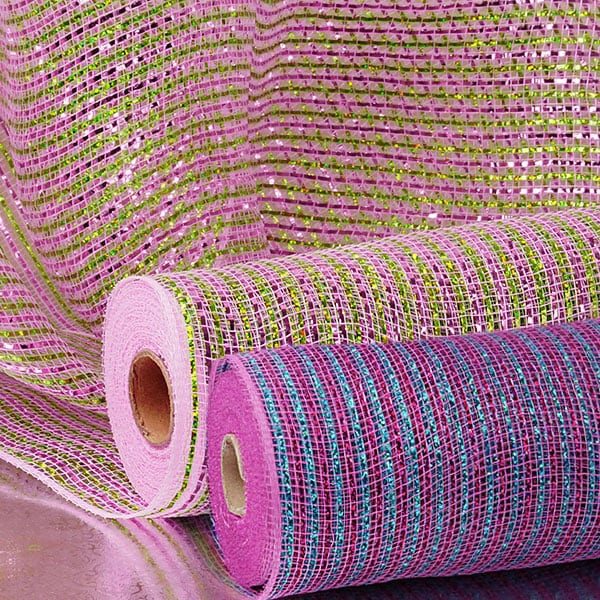 "Bi-Colored Solid Metallic 21"" Deco Mesh"