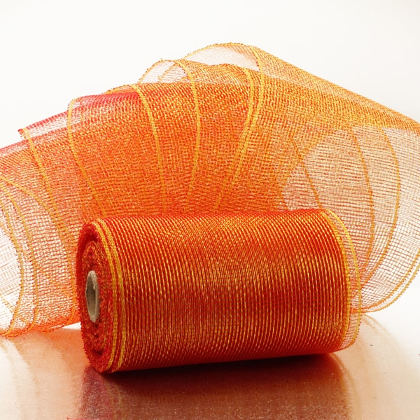 "Two-Tone 6"" Deco Mesh Ribbons"