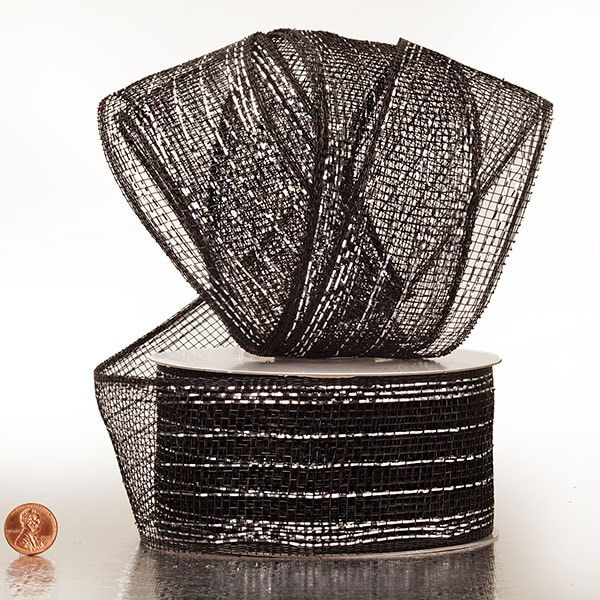 "Metallic Thread 2 1/2"" Deco Mesh Ribbons"