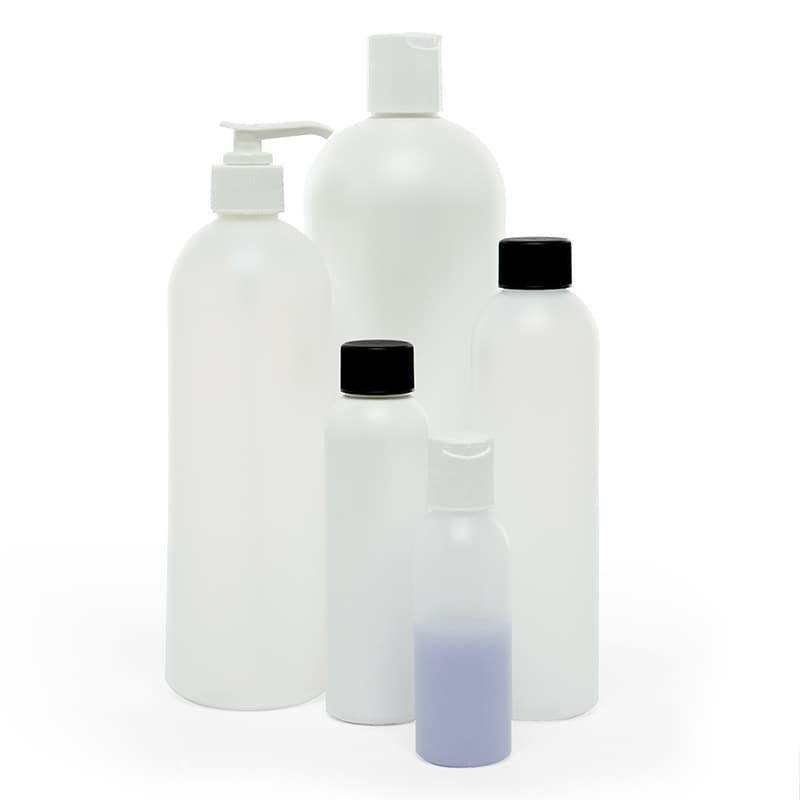 Round Hdpe Bottles & Tops