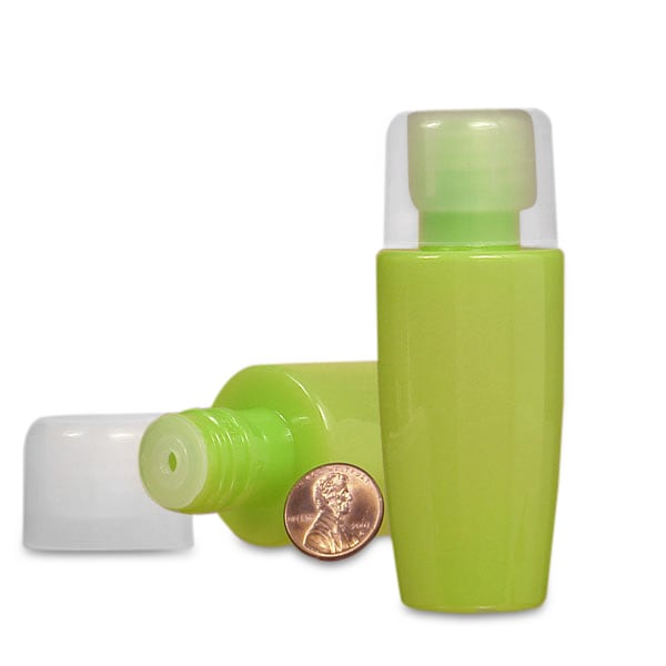Small Opaque Lime Bottle
