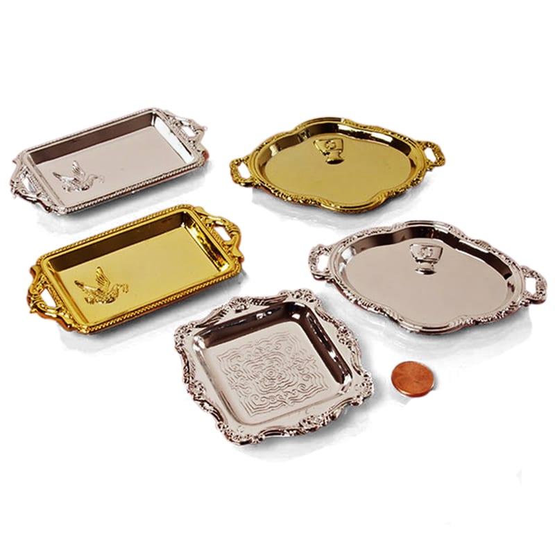 Mini Gold Silver Plastic Trays