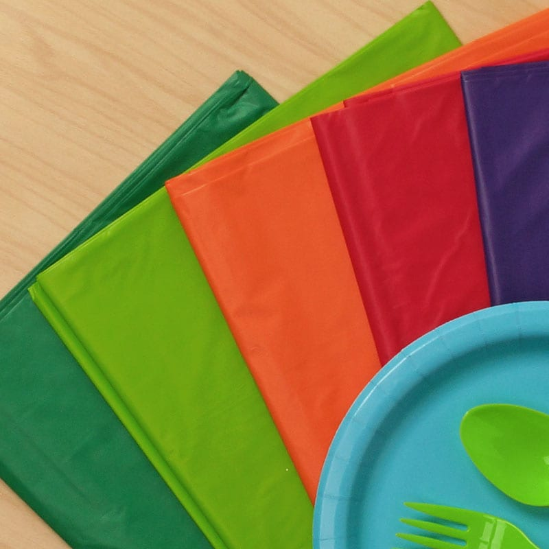 Colored Party Plastic Table Covers