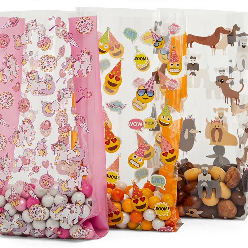 Objects Patterned Cello Bags