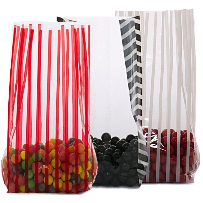 Stripe Patterned Cello Bags