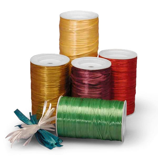Colored Pearlized Raffia Ribbon