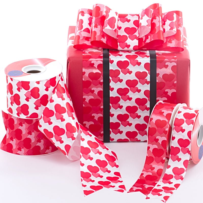 Heart Chain Poly Ribbon