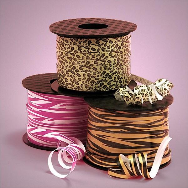 Wild Animal Printed Curling Ribbons