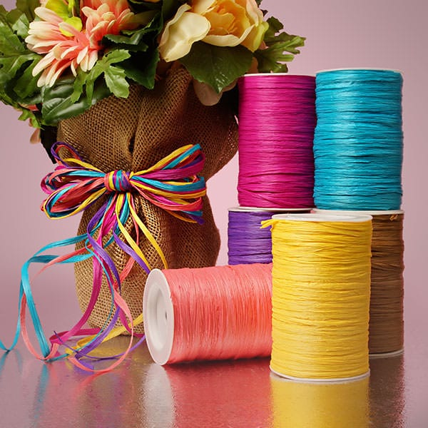 Colored Matte Raffia Ribbon