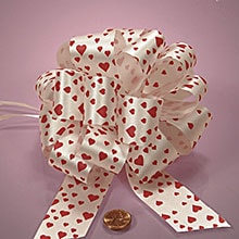 Red Hearts Poly Pull String