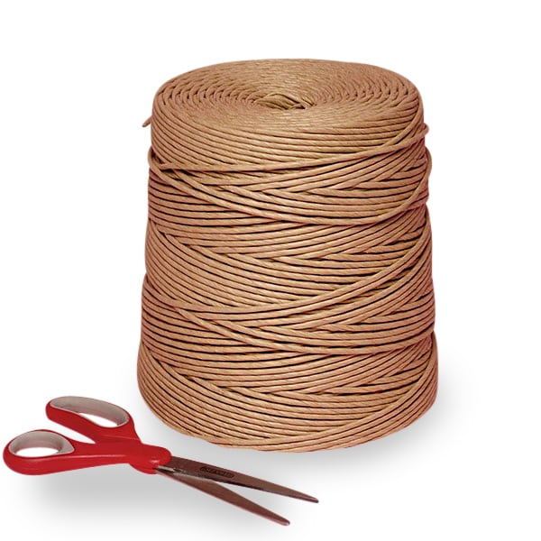 """#2 600 Brown Twisted Paper Cord - Polyethylene Ribbons Width: 1/8"""" Length: 600 ft. by Paper Mart"""