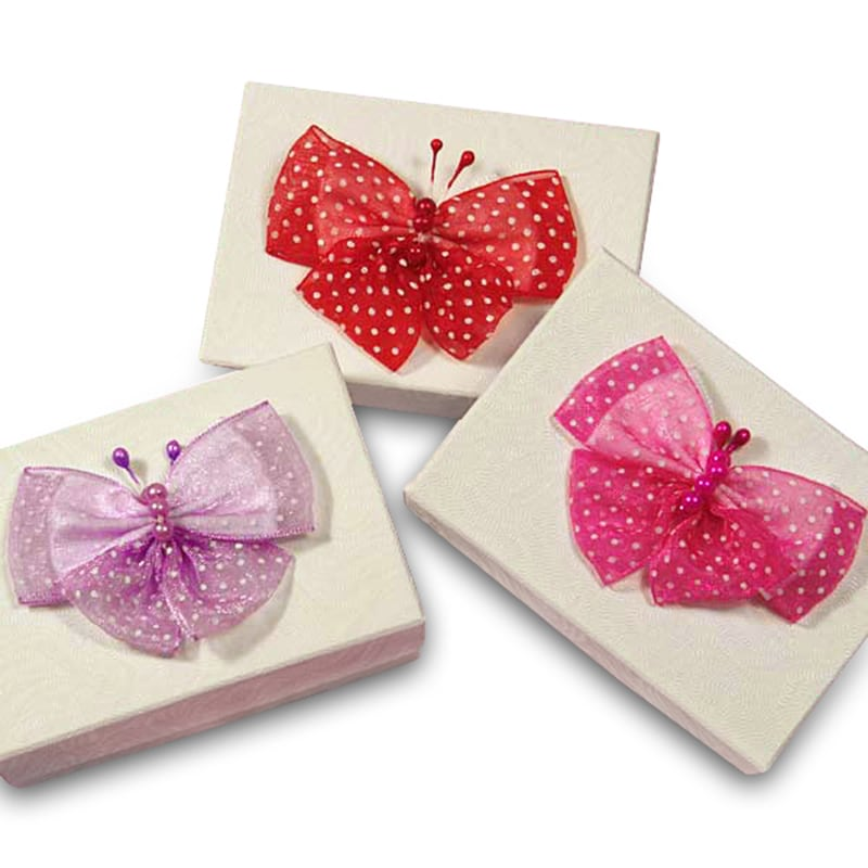 "2-3/8"" Polka Dot Pre-Tied Butterfly Bows"