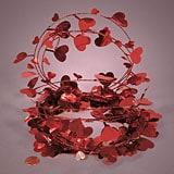 Metallic Heart Garland - Red