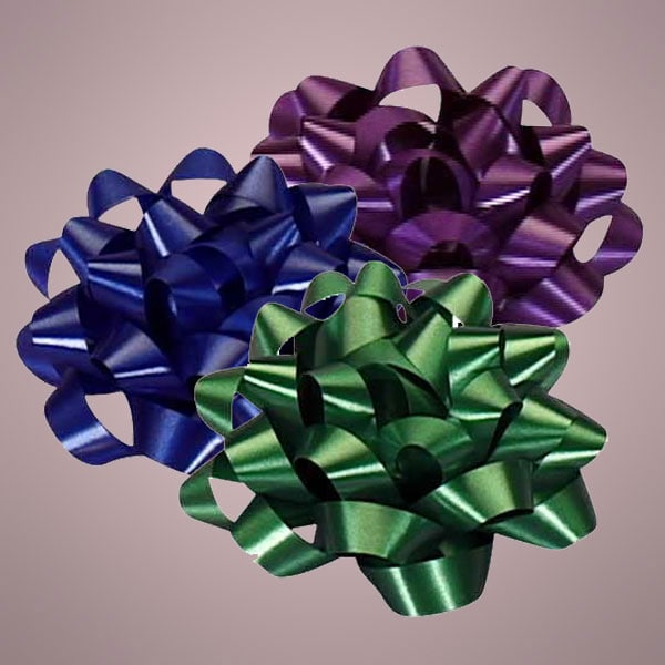 "4"" Satin Finish Confetti Bows"