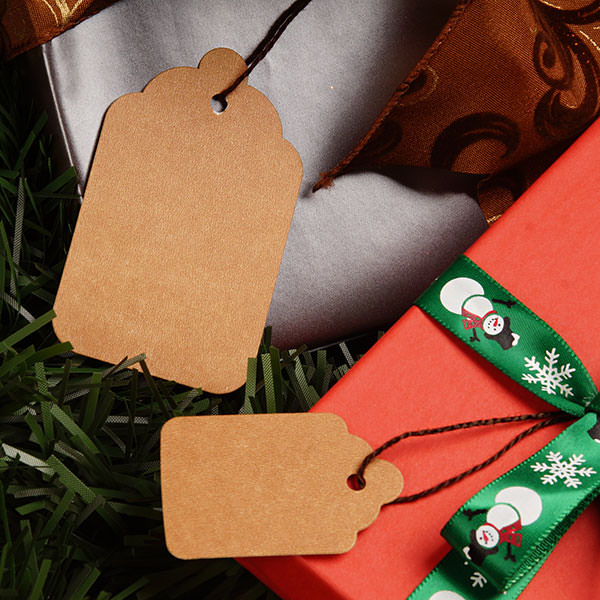 Kraft Gift Tags - Strung Or Plain