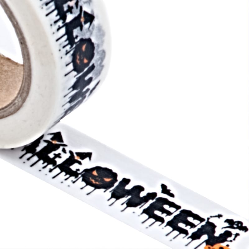 """""""Halloween"""" Washi Tape - 9/16"""" X 10 Yards - Shipping Supplies by Paper Mart"""