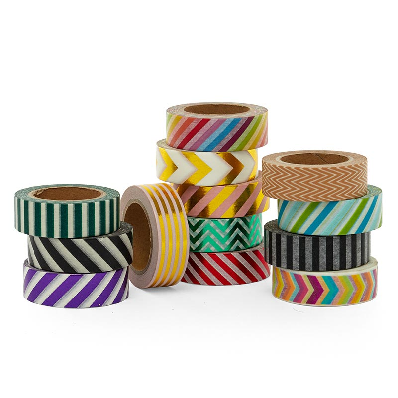 Stripe & Chevron Patterned Washi Tape