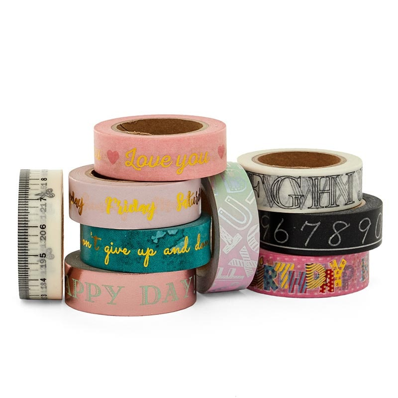 Phrases & Numbers Washi Tape