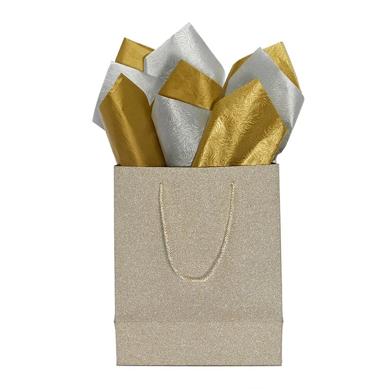 Embossed Single Faced Metallic Tissue Paper