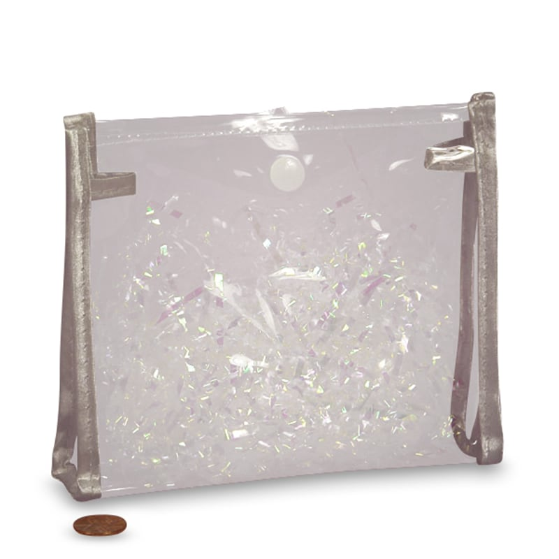 Clear Soft Vinyl Button Pouch