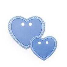 Medium Blue Heart Shape Tags - 2-1/8 X 2-3/8 - Cardboard - Quantity: 150 - Favor Boxes by Paper Mart