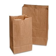 #20 40# Shorty Market Bags Gusset - 5 1/4 - Quantity: 500 - Grocery Bags - Basisweight : 40 Lbs Width: 8 1/4 Height/Depth: 13 3/8