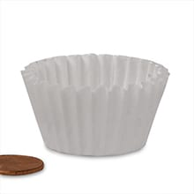 #105 White Candy Cup - 1-1/2 X 5/8 - Glass - Quantity: 1000 - Candy Packaging - Wall: 5/8 - Base: 1 1/2 by Paper Mart