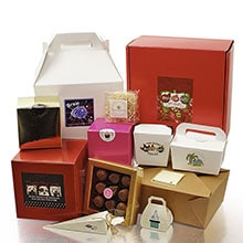 Assorted favor boxes
